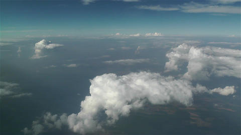 Clouds Aerial 1 stock footage