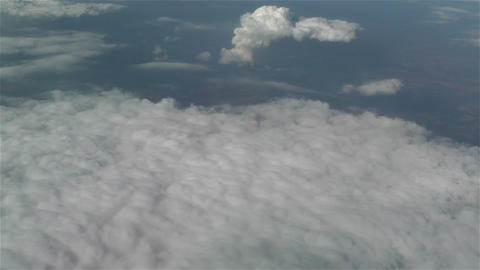 Clouds Aerial 3 stock footage