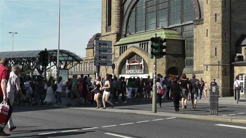 Dammtor Railway Station Hamburg Germany 4 Stock Video Footage