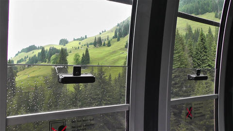 European Alps Kitzbuhel Austria 31 cable car Stock Video Footage