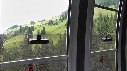 European Alps Kitzbuhel Austria 31 cable car Stock Video Footage