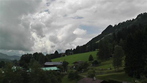 European Alps Kitzbuhel Austria Aerial 2 Stock Video Footage