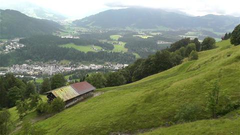 European Alps Kitzbuhel Austria Aerial 12 Stock Video Footage