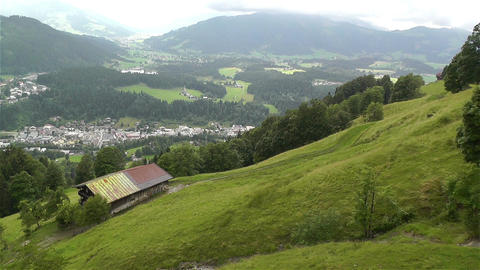 European Alps Kitzbuhel Austria Aerial 12 Stock Video Footage