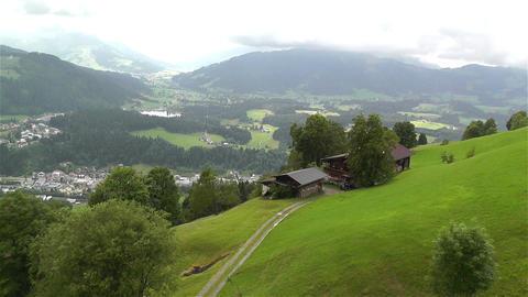 European Alps Kitzbuhel Austria Aerial 14 Stock Video Footage