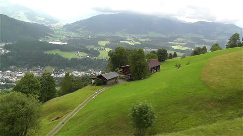 European Alps Kitzbuhel Austria Aerial 14 Stock Video Footage