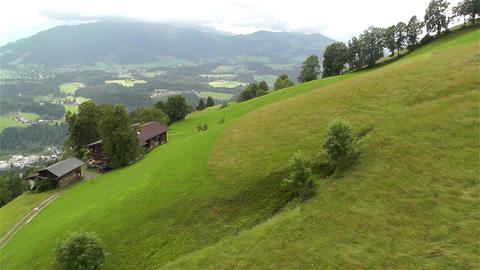 European Alps Kitzbuhel Austria Aerial 14 Footage
