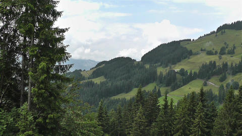 European Alps Kitzbuhel Austria Aerial 18 Stock Video Footage