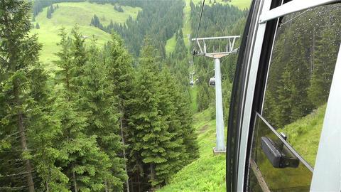 European Alps Kitzbuhel Austria Aerial 27 cable ca Footage