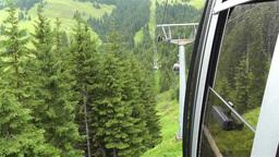 European Alps Kitzbuhel Austria Aerial 27 cable ca Stock Video Footage