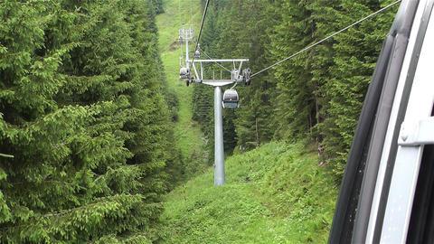 European Alps Kitzbuhel Austria Aerial 29 Cable Ca Stock Video Footage