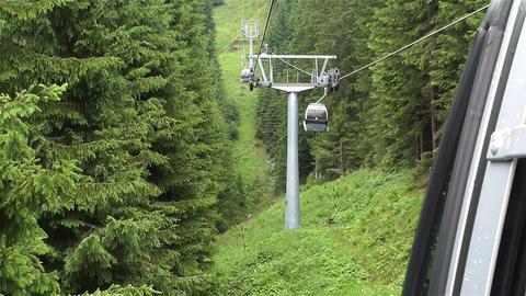 European Alps Kitzbuhel Austria Aerial 29 Cable Ca Footage
