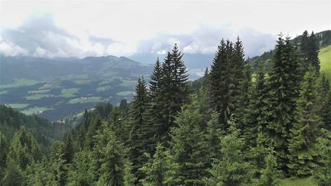 European Alps Kitzbuhel Austria Aerial 32 Stock Video Footage