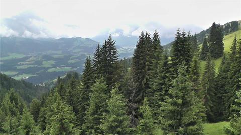 European Alps Kitzbuhel Austria Aerial 32 Footage