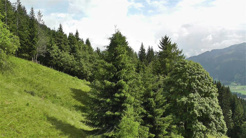 European Alps Kitzbuhel Austria Aerial 52 Stock Video Footage