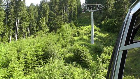 European Alps Kitzbuhel Austria Aerial 58 cable ca Stock Video Footage