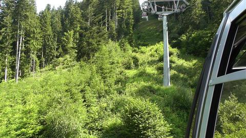 European Alps Kitzbuhel Austria Aerial 58 cable ca Footage