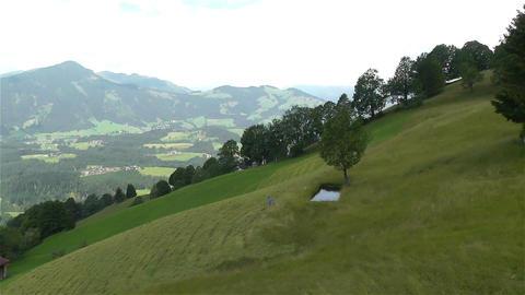 European Alps Kitzbuhel Austria Aerial 64 lawnmove Stock Video Footage
