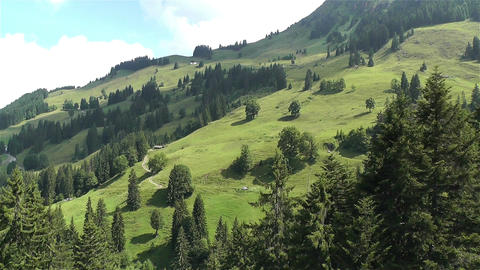European Alps Kitzbuhel Austria Aerial 66 Stock Video Footage