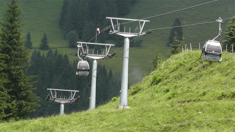 European Alps Kitzbuhel Austria Cable Car 2 Footage