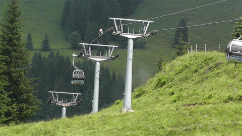 European Alps Kitzbuhel Austria Cable Car 2 Stock Video Footage