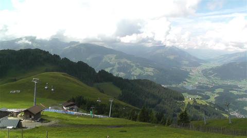 European Alps Kitzbuheler Horn Austria 4 pan Stock Video Footage