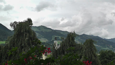 European Alps Summer Clouds Timelapse 1 Stock Video Footage