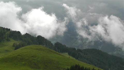 European Alps Summer Clouds Timelapse 3 Stock Video Footage