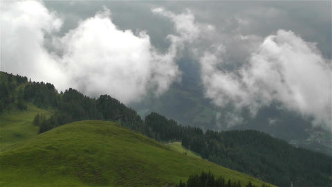 European Alps Summer Clouds Timelapse 3 Footage