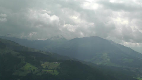 European Alps Summer Clouds Timelapse 7 Footage