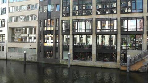 Hamburg Downtown Germany 4 canal Footage