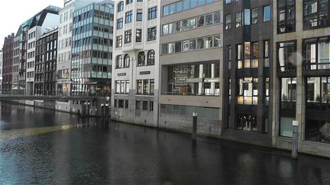 Hamburg Downtown Germany 5 canal Footage