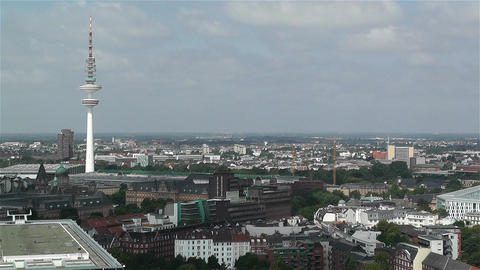 Hamburg Germany Aerial 2 heinrich hertz tower Footage