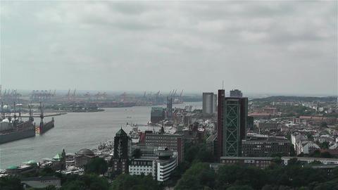 Hamburg Germany Aerial 4 port Footage
