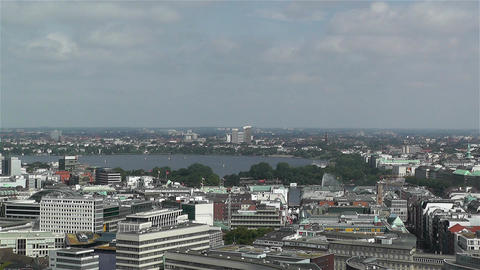 Hamburg Germany Aerial 6 Stock Video Footage