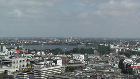 Hamburg Germany Aerial 6 Footage