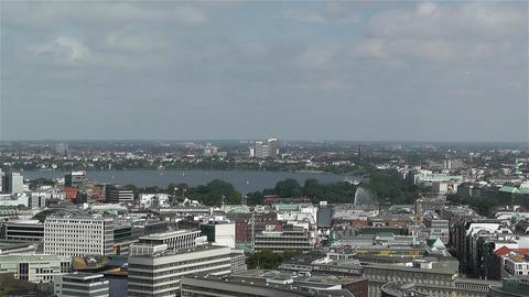 Hamburg Germany Aerial 6 Stock Video Footage