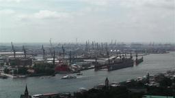Hamburg Germany Aerial 8 port Footage