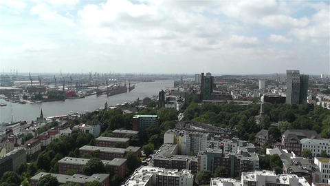 Hamburg Germany Aerial 10 port Footage