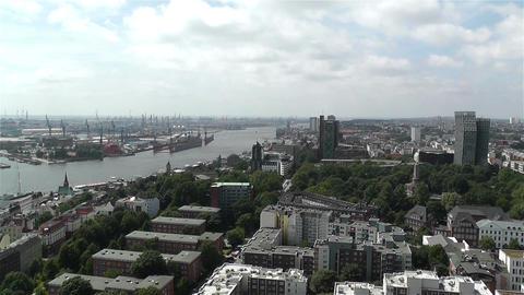 Hamburg Germany Aerial 10 port Footage