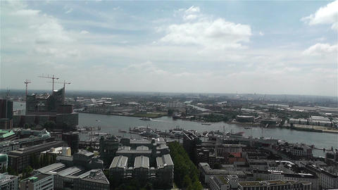 Hamburg Germany Aerial 12 port Footage