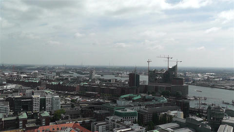 Hamburg Germany Aerial 14 port Footage