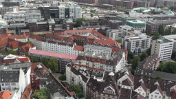 Hamburg Germany Aerial 16 Stock Video Footage
