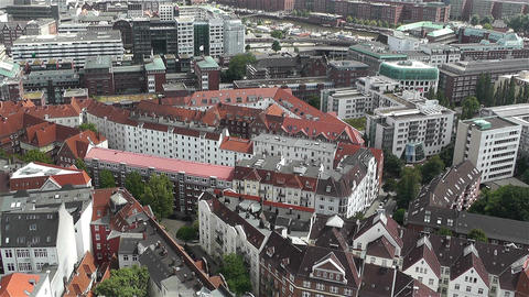 Hamburg Germany Aerial 16 Stock Video Footage