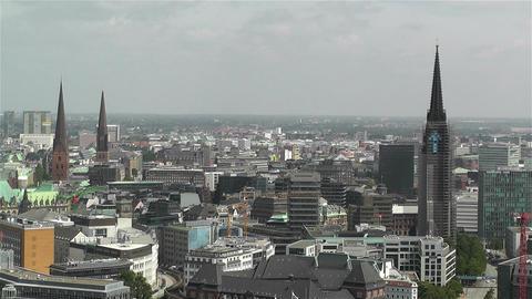 Hamburg Germany Aerial 18 Stock Video Footage