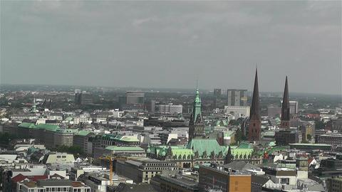 Hamburg Germany Aerial 20 Stock Video Footage