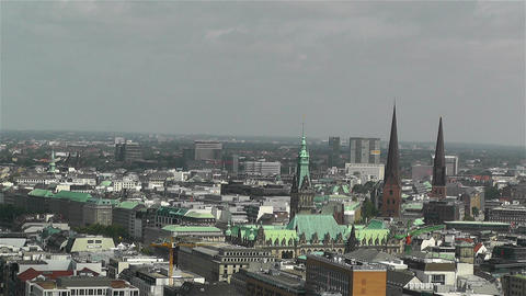 Hamburg Germany Aerial 20 Footage