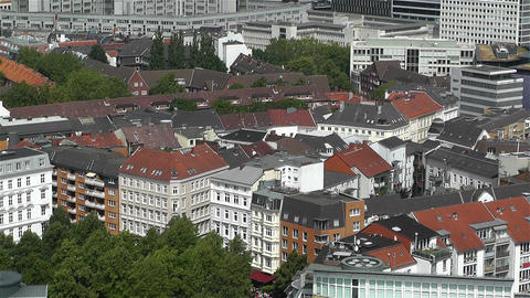Hamburg Germany Aerial 22 Stock Video Footage