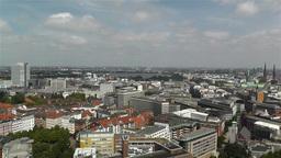 Hamburg Germany Aerial 26 Stock Video Footage