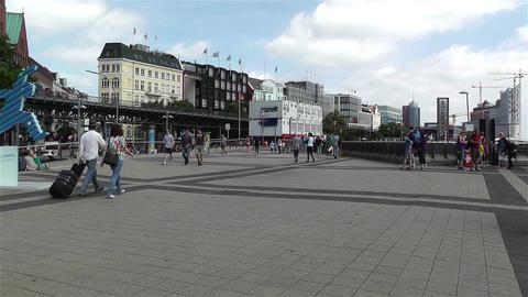 Hamburg Germany Landungsbrucken 1 Stock Video Footage
